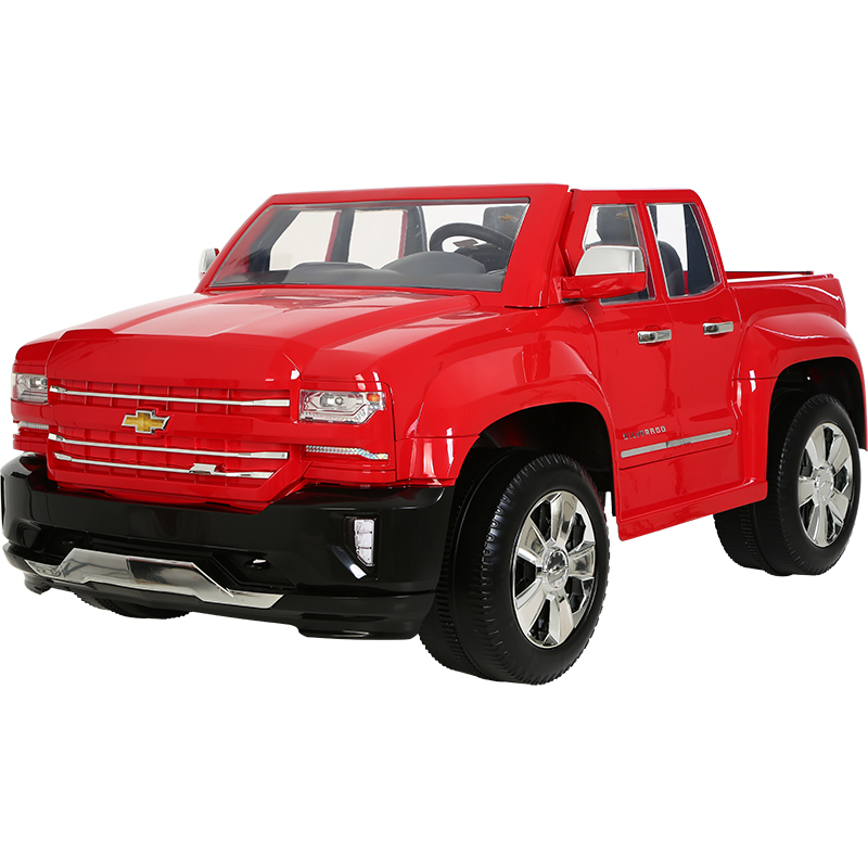 12V Chevy Silverado, Red 2018