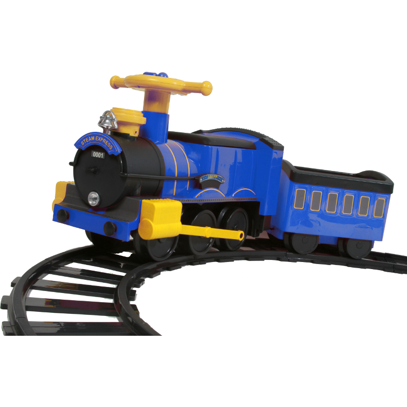 6V Steam Train - Blue