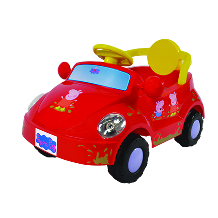 6V Peppa Pig Family Car